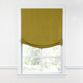 Chartreuse Green Velvet Relaxed Roman Shade