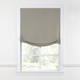 Dark Taupe Linen Relaxed Roman Shade