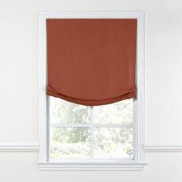 Dark Red-Orange Linen Relaxed Roman Shade