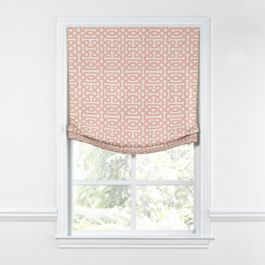 Pale Coral Trellis Relaxed Roman Shade