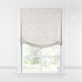 White & Gray Marled Relaxed Roman Shade