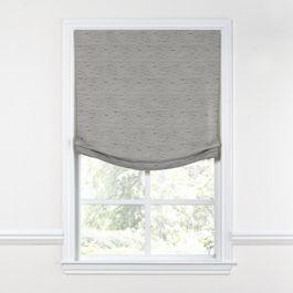 Gray Marled Relaxed Roman Shade