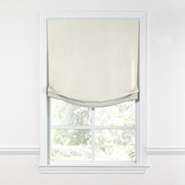 White Sunbrella® Canvas Relaxed Roman Shade