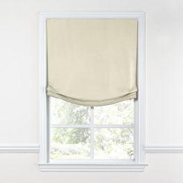 Ivory Sunbrella® Canvas Relaxed Roman Shade