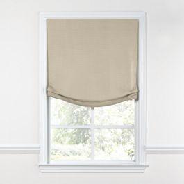 Tan Sunbrella® Canvas Relaxed Roman Shade