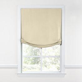 Cream Sunbrella® Canvas Relaxed Roman Shade