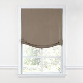 Taupe Sunbrella® Canvas Relaxed Roman Shade
