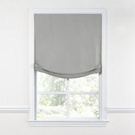 Flecked Gray Sunbrella® Canvas Relaxed Roman Shade