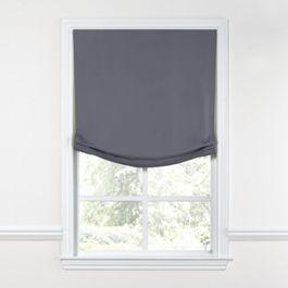 Gray Sunbrella® Canvas Relaxed Roman Shade
