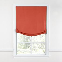 Tomato Red Sunbrella® Canvas Relaxed Roman Shade