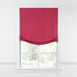 Hot Pink Sunbrella® Canvas Relaxed Roman Shade