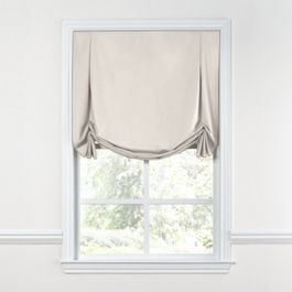 Custom Tulip Roman Shade with Flared Bottom