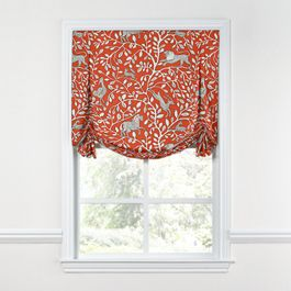 Red Animal Motif Tulip Roman Shade