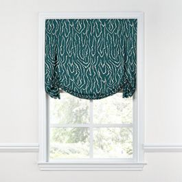 Teal Animal Print Tulip Roman Shade