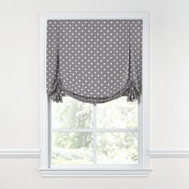 White & Gray Polka Dot Tulip Roman Shade