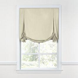Ivory Sunbrella® Canvas Tulip Roman Shade
