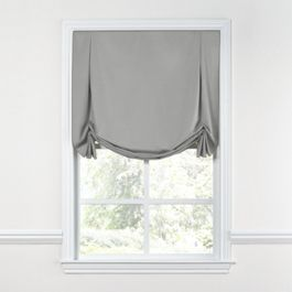Flecked Gray Sunbrella® Canvas Tulip Roman Shade