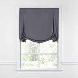 Gray Sunbrella® Canvas Tulip Roman Shade
