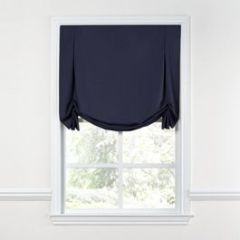 Navy Blue Sunbrella® Canvas Tulip Roman Shade