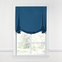 Royal Blue Sunbrella® Canvas Tulip Roman Shade