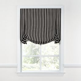 Black & White Thin Stripe  Tulip Roman Shade