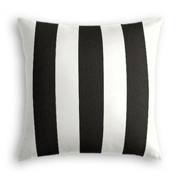 Black & White Awning Stripe Outdoor Pillow