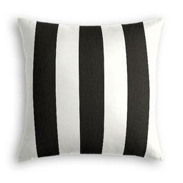 Black & White Awning Stripe Outdoor Pillow