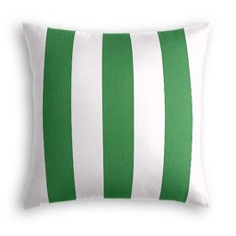 Green Awning Stripe Outdoor Pillow