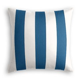 Royal Blue Awning Stripe Outdoor Pillow