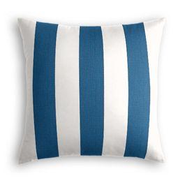 Royal Blue Awning Stripe Outdoor Pillow