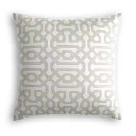 Light Gray Trellis Outdoor Pillow