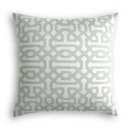 Pale Seafoam Trellis Outdoor Pillow