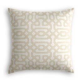 Light Tan Trellis Outdoor Pillow