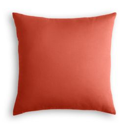 Tomato Red Sunbrella® Canvas Outdoor Pillow