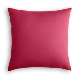 Hot Pink Sunbrella® Canvas Outdoor Pillow
