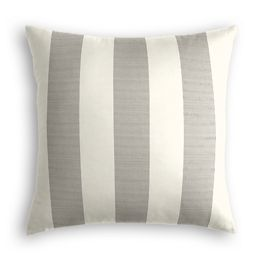Gray Awning Stripe Outdoor Pillow