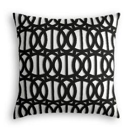 Black & White Trellis Outdoor Pillow