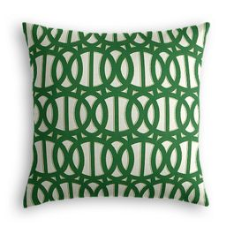 Emerald Green Trellis Outdoor Pillow
