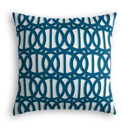 Bright Blue Trellis Outdoor Pillow