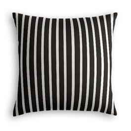 Black & White Thin Stripe  Outdoor Pillow