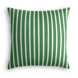 Emerald Green Thin Stripe Outdoor Pillow