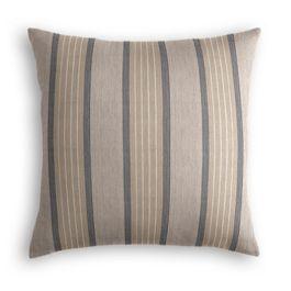 Tan & Gray Stripe Outdoor Pillow
