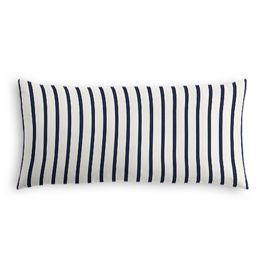 Navy & White Stripe Outdoor Lumbar Pillow