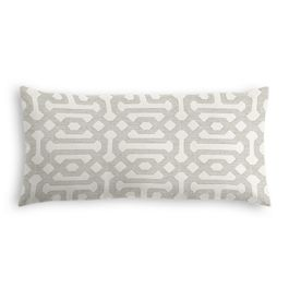 Light Gray Trellis Outdoor Lumbar Pillow