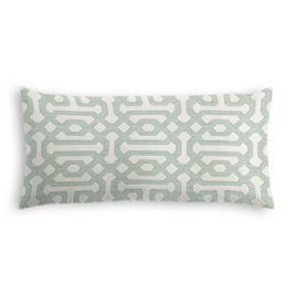 Pale Seafoam Trellis Outdoor Lumbar Pillow