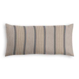 Tan & Gray Stripe Outdoor Lumbar Pillow