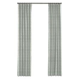 Pale Seafoam Trellis Outdoor Curtains Close Up