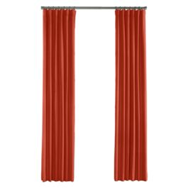 Tomato Red Sunbrella® Canvas Outdoor Curtains Close Up