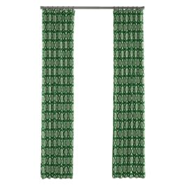 Emerald Green Trellis Outdoor Curtains Close Up