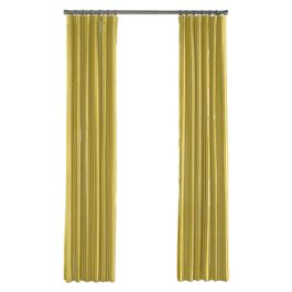 Bright Yellow Thin Stripe Outdoor Curtains Close Up